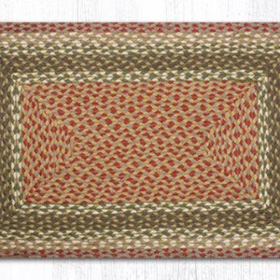 Olive Burgundy Gray 22-024 Rectangle 20x30