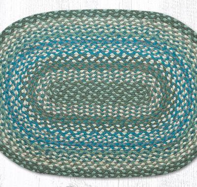 Sage Ivory Settlers Blue 02-419 Oval 20x30