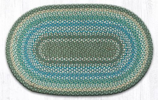 Sage Ivory Settlers Blue 03-419 Oval 27x45