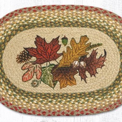 Autumn Leaves 48-024AL Oval Placemat 13x19
