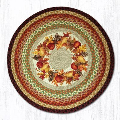 Autumn Wreath 66-431AW Round Area Rug 27x27