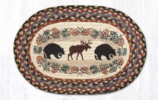 Bear Moose 48-043BM Oval Placemat 13x19