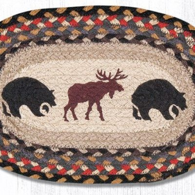 Bear Moose 81-043BM Oval Accent Mat 10x15