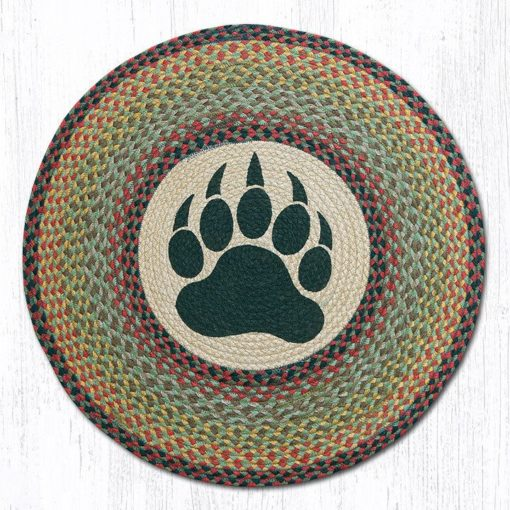 Bear Paw 66-081BP Round Area Rug 27x27