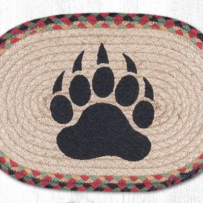 Bear Paw 81-081BP Oval Accent Mat 10x15