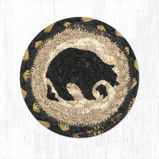 Black Bears 31-IC043B Individual Coaster 5x5