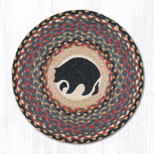 Black Bears 57-043BB Round Placemat 15x15
