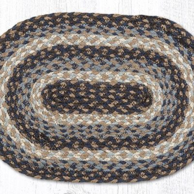 Blue 00-743 Oval Accent Mat 10x15