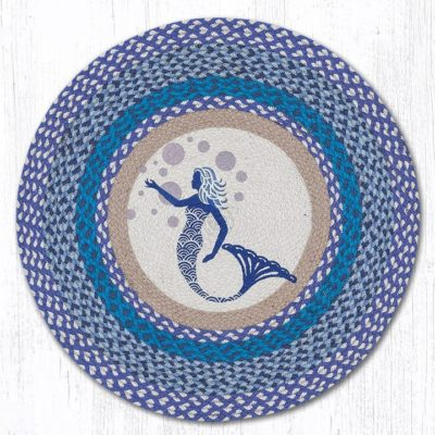 Blue Mermaid 66-527BM Round Area Rug 27x27