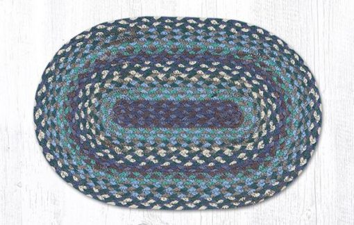 Blueberries & Cream 00-503 Oval Accent Mat 10x15