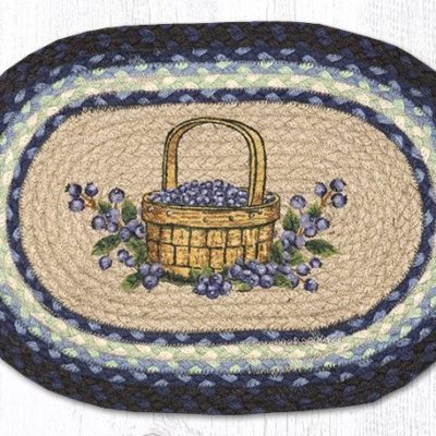 Blueberry Basket 48-312BB Oval Placemat 13x19
