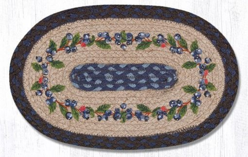 Blueberry Vine 81-312BV Oval Accent Mat 10x15