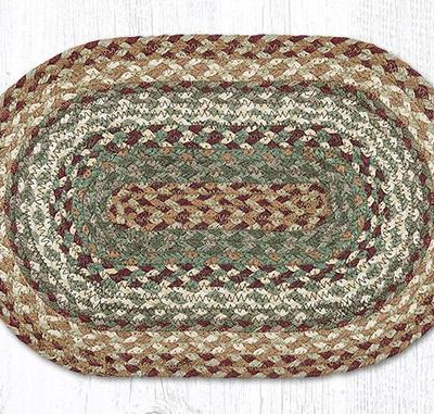 Buttermilk Cranberry 00-413 Oval Accent Mat 10x15