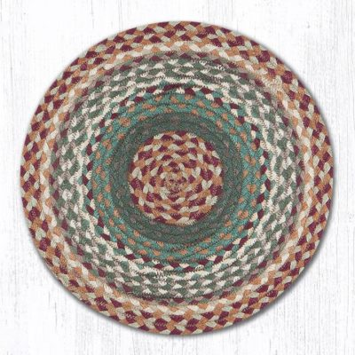Buttermilk Cranberry 20-CH413 Round Chairpad 15.5x15.5