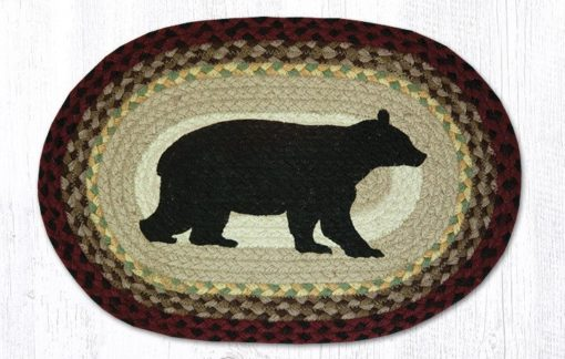 Cabin Bear 48-395CB Oval Placemat 13x19