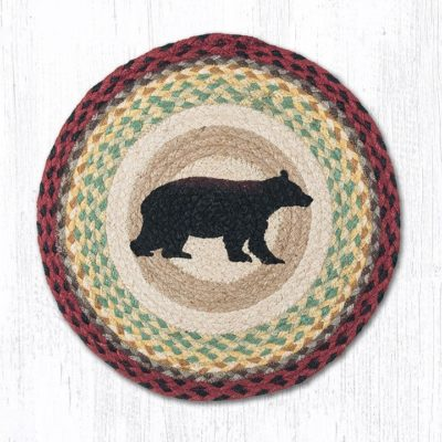 Cabin Bear 57-395CB Round Placemat 15x15