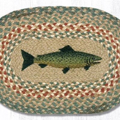 Fish 81-009F Oval Accent Mat 10x15