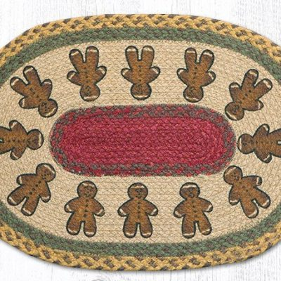 Gingerbread Men 48-111GBM Oval Placmat 13x19