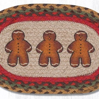 Gingerbread Men 81-111GBM Oval Accent Mat 10x15