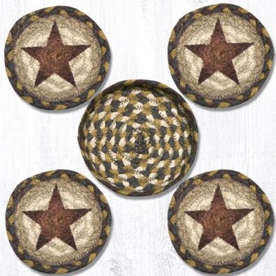Gold Stars 29-CB051S Coasters In A Basket 5x5 Set of 4