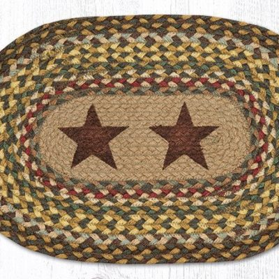 Gold Stars 48-051GS Oval Placemat 13x19