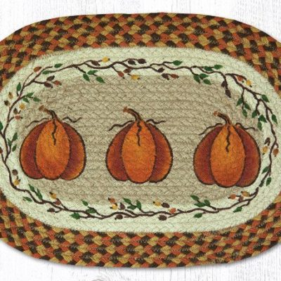 Harvest Pumpkin 48-222HP Oval Placemat 13x19