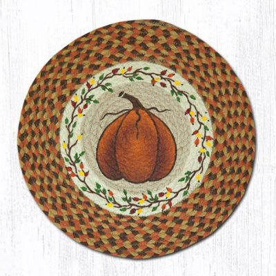 Harvest Pumpkin 49-CH222 Round Chair Pad 15.5x15.5