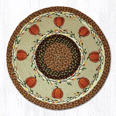 Harvest Pumpkin 66-222HP Round Area Rug 27x27