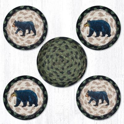 Mama & Baby Bear 29-CB116MB Coasters In A Basket 5x5 Set of 4