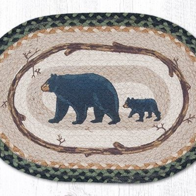 Mama & Baby Bear 48-116MB Oval Placemat 13x19