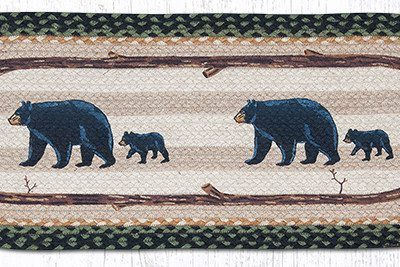 Mama & Baby Bear 68-116MB Oval Runner 13x36