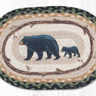 Mama & Baby Bear 81-116MB Oval Accent Mat 10x15