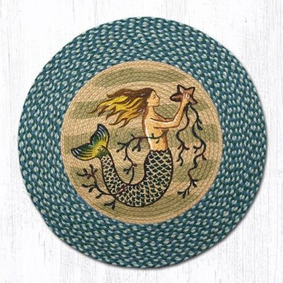 Mermaid 66-245M Round Area Rug 27x27