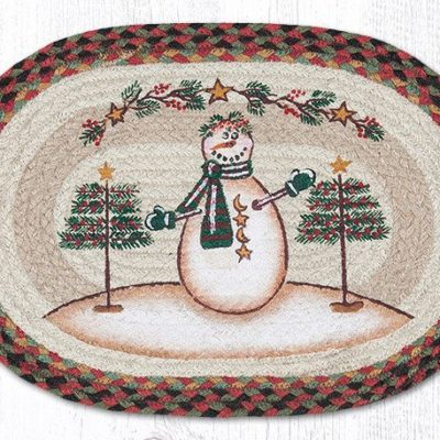 Moon & Star Snowman 48-081MSS Oval Placemat 13x19
