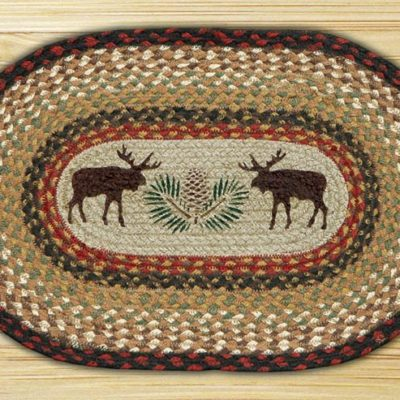 Moose Pinecone 48-019MP Oval Placemat 13x19