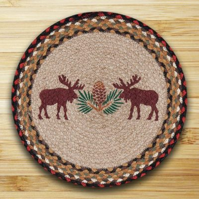 Moose Pinecone 57-019MP Round Placemat 15x15