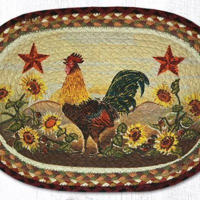 Morning Rooster 48-391MR Oval Placemat 13x19