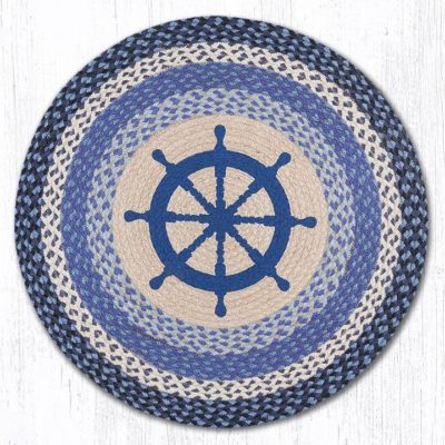 Nautical Wheel 66-434NW Round Area Rug 27x27