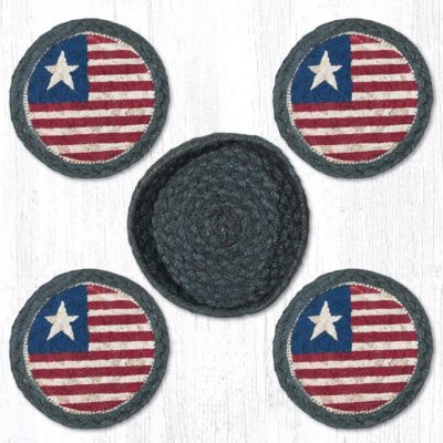 Original Flag 29-CB1032 Coasters In A Basket 5x5 Set of 4