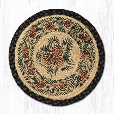 Pinecone 49-CH025A Round Chair Pad 15.5x15.5