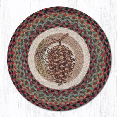 Pinecone 57-081P Round Placemat 15x15