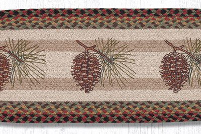 Pinecone 68-081P Oval Runner 13x36