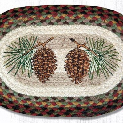 Pinecone 81-081P Oval Accent Mat 10x15