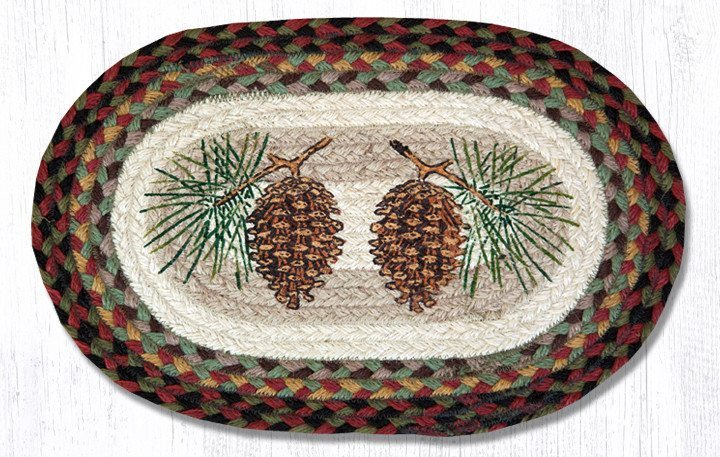 Pinecone Braided Jute Oval Accent Mat 081 Morning Star