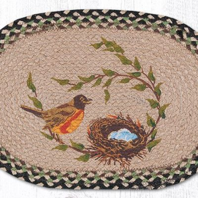 Robins Nest 48-121RN Oval Placemat 13x19
