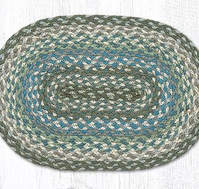 Sage Ivory Settlers Blue 00-419 Oval Accent Mat 10x15