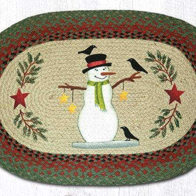 Snowman With Crow 65-025SC Oval 20x30