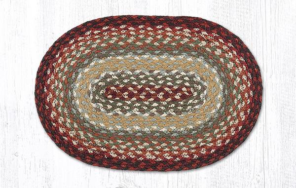 Thistle Green Country Red 00-417 Oval Accent Mat 10x15