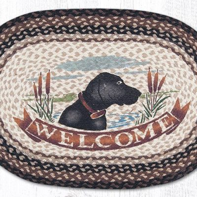 Welcome Dog 65-313WD Oval 20x30