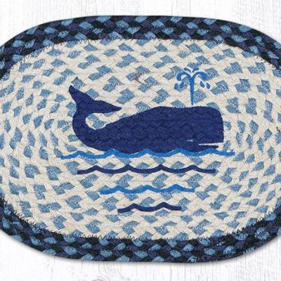 Whale 81-443W Oval Accent Mat 10x15